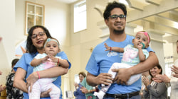 Formerly conjoined twins leave hospital