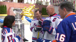 See 3 hockey legends hit the ice at Rockefeller Center rink