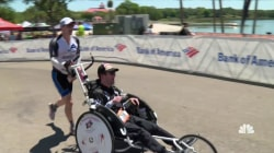 Inspiring America: Man With Cerebral Palsy Finishes Half-Ironman