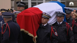 French Officer Killed In Terrorist Attack Honored With Ceremony