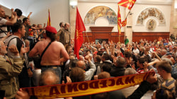 Violence Erupts as Nationalists Storm Macedonian Parliament
