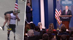 Highs and Lows: Vets run Boston Marathon, Gronk crashes White House briefing