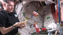Watch an astronaut make a PB&J in space