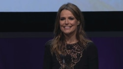 'This is how you rise and shine': Savannah Guthrie receives Matrix Award