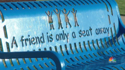 Thousands of 'Buddy Benches' Help Thousands of Lonely Kids Find Friends
