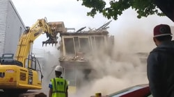 Demolition of wrong building caught on video that's gone viral