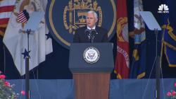 Vice President Pence Speaks At Naval Academy Graduation