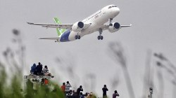 China's First Domestically-Made Large Jetliner Takes Off on Maiden Flight