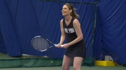 Savannah Guthrie starts 'Summer of Yes' with tennis lessons