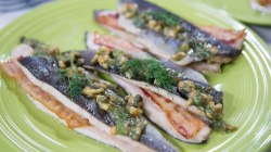 Golden trout on cedar, snap peas: 'Top Chef' judge makes it simple