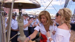 Kathie Lee and Hoda go aboard the only US tall ship in commission