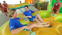 Watch Dylan Dreyer and husband Brian try the Volcano Bay raft rides