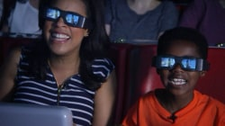 Sheinelle Jones and her son Kayan share a Universal Orlando adventure