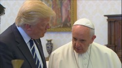 President Trump meets Pope Francis at Vatican