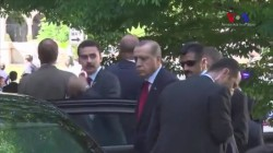 Turkey's President Looks On As Bodyguards Clash With Protesters in DC