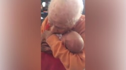 Watch this sweet 105-year-old meet his newborn great-grandson