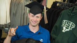 College student rises from wheelchair to walk at his graduation