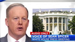 Spicer Asked About Trump's Latest Russia Stance in Off-Camera Briefing