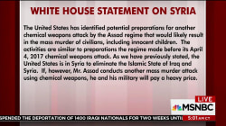 WH issues ominous warning to Syria