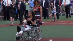 Injured Capitol Police Officer Throws First Pitch at Congressional Softball Game