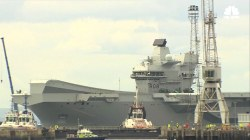 Britain's Largest Warship Sets Sail