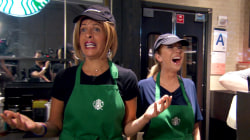 Watch Kathie Lee and Hoda become Starbucks baristas: What could go wrong?!