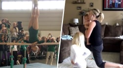 Highs and Lows: Incredible senior gymnast, busy mom's creative workout