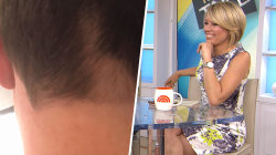 Dylan Dreyer gave her husband a haircut, and… oops!