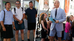 Can men wear shorts in the workplace?