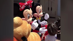 This boy can't believe it when Disney characters start using sign language