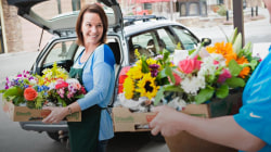 The touching reason this group rescues flowers headed for the trash