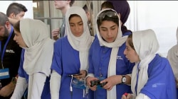 Afghan Girls Compete in First International Robotics Competition