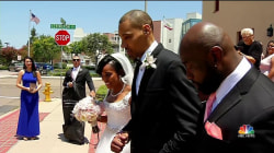 Partially Paralyzed Former Olympic High Jumper Walks Wife Down Aisle