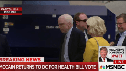 McCain Returns to Capitol Hill for Health Care Vote