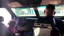 Girl Plays Cops With Officer Inside Armored Vehicle