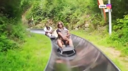 Ciara criticized for riding toboggan slide with 3-month-old daughter