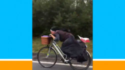 Watch this bicycling nun on the run fulfill her need for speed