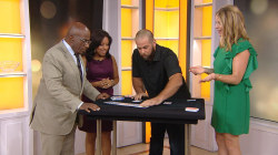 Watch  NFL player Jon Dorenbos do amazing card tricks live on TODAY