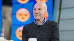 Patrick Stewart talks about his role in 'The Emoji Movie' (as poop emoji!)