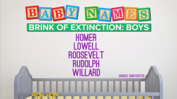 Some baby names are on the verge of extinction (but not Carson!)