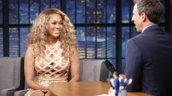 Tyra Banks on her revealing dress on Seth Meyers: 'It was very breezy'