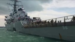 10 sailors missing after U.S. Navy ship collides with oil tanker