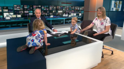Adorable Toddler Goes Rogue During Live TV News Bulletin