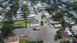 Drone Footage Shows Flooded New Orleans Streets After Heavy Rainfall
