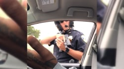 California Police Officer Points Gun at Passengers During Traffic Stop