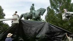Robert E. Lee Statue Covered in Charlottesville