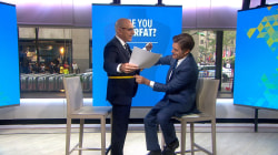 Dr. Oz measures Matt Lauer's waist to explain the hazards of 'overfat'