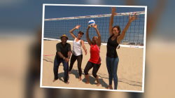 See Al Roker make a volleyball-loving mom's dream come true