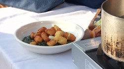 See chef make spinach with fried cheese curds at the Minnesota State Fair