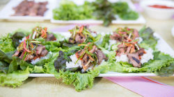 Make beef short ribs Korean style with a spicy salad